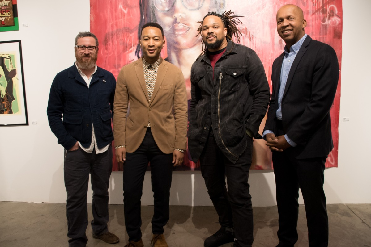 "John Legend and Bryan Stevenson discuss mass incarceration during their ""The Criminal Justice Moment in L.A."" panel at Into Action"